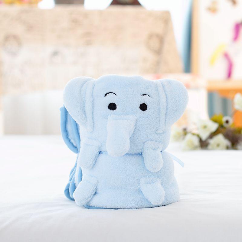 Creative Blanket Gift Flannel Baby Dynet 80 * 100cm Animal Roll Blanket Swaddle Wrap Bebe Envelope Wrap Nap Blanket