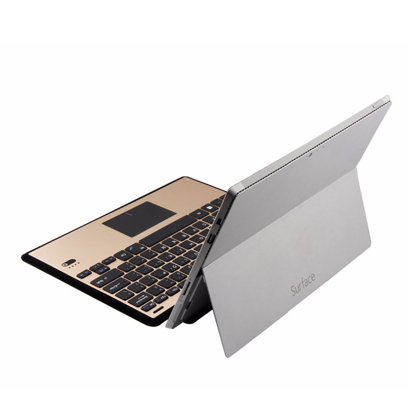 Touchpad Keyboard Ultra Slim Cover for Microsoft Surface 3 Aluminum Bluetooth Keyboard Case Holder Stand for Surfae 3 Tablet PC new fashion original physical keyboard station official stand type cover case for microsoft surface 3 rt rt3 10 8 tablet