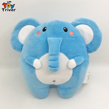 19cm Plush Blue Elephant Toy Stuffed Cartoon Elephants Dolls Baby Kids Children Kawaii Appease Birthday Gift Home Decor Triver цена