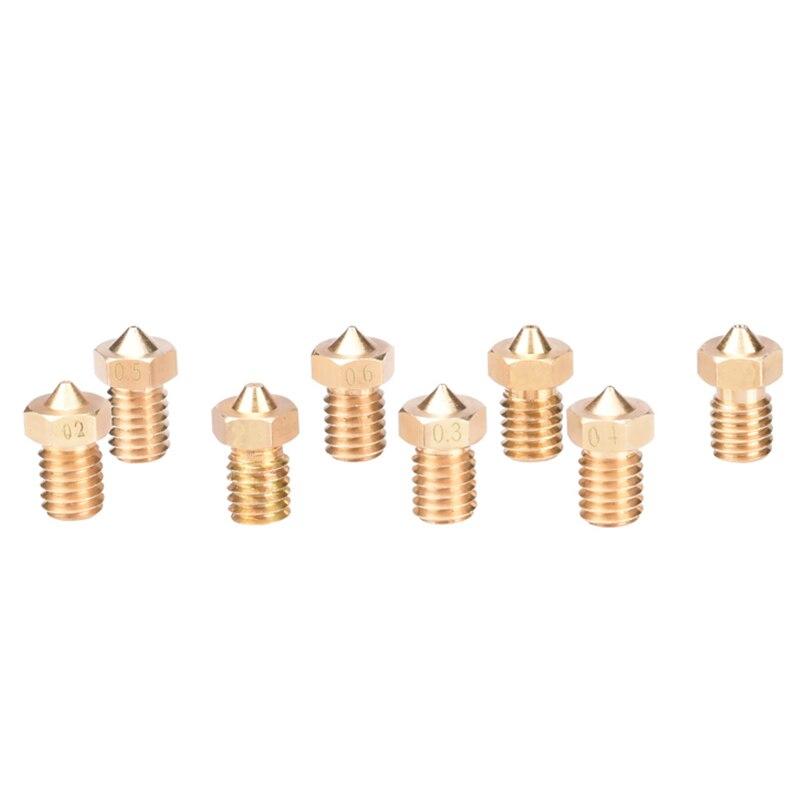 5pcs 3D printer accessories M6 thread brass lettering nozzle 1.75mm