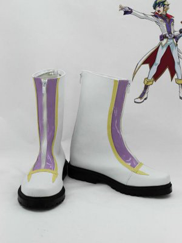 Yu-gi-oh! Cerf-volant Tenjo blanc Cosplay bottes chaussures Anime fête Cosplay bottes sur mesure hommes chaussures
