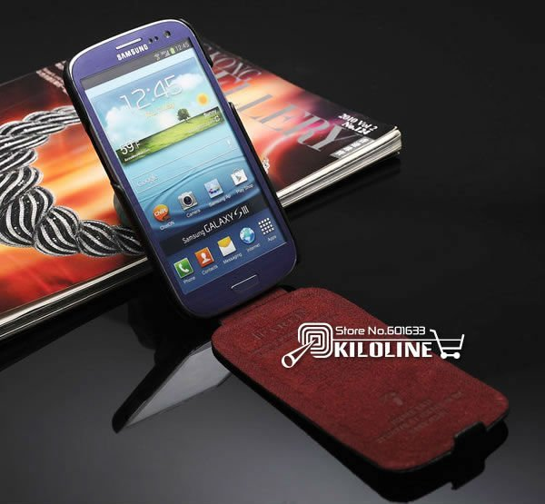 Original ICARER Genuine Cow Leather Case Cover For Samsung Galaxy S3 S III i9300