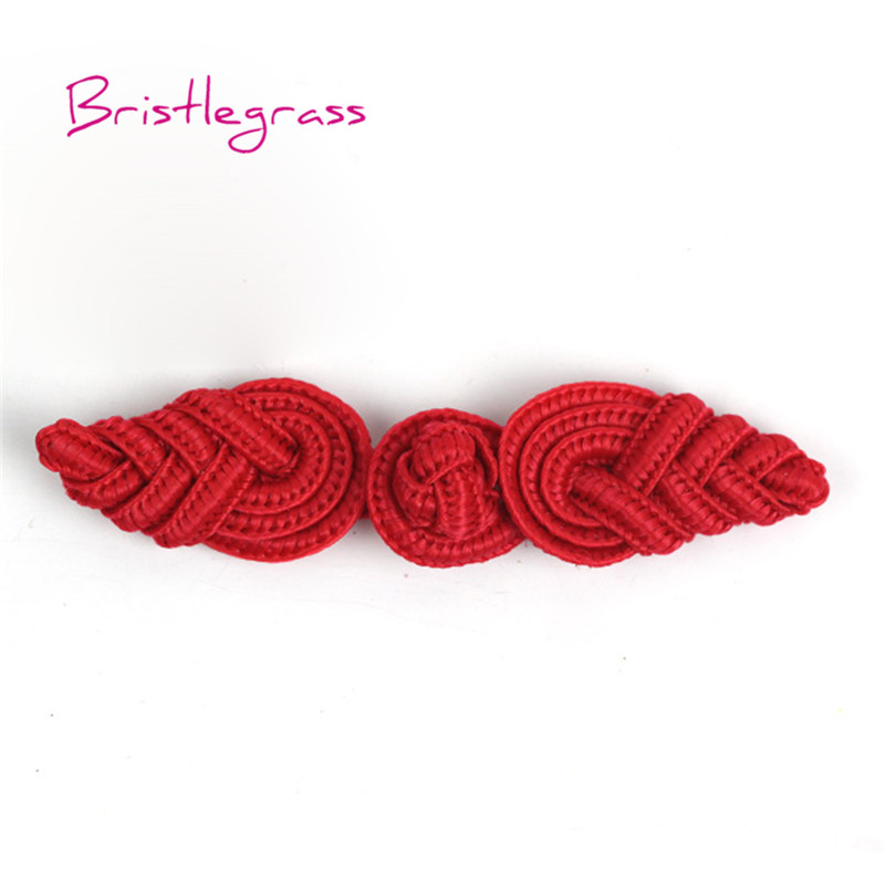 Cheap Price Bristlegrass 5 Pair Handmade Red Leaf Chinese Knot Buttons Frog Closure Ribbon Fasteners Cheongsam Costume Suit Diy Sewing Craft Home & Garden Buttons