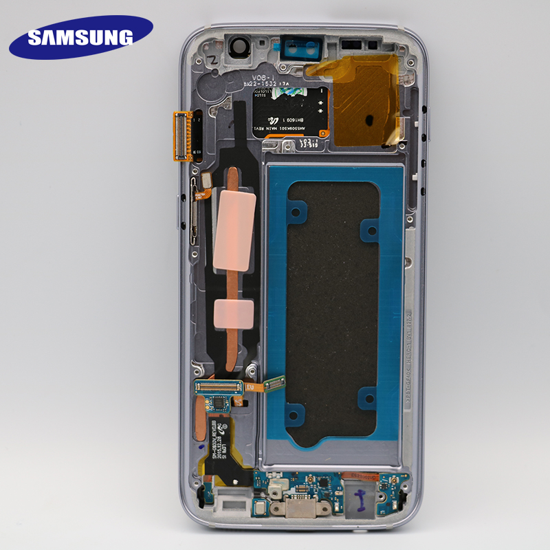 High quality ORIGINAL 5.1'' LCD Replacement for SAMSUNG Galaxy S7 Display G930 G930F Touch Screen Digitizer Assembly with Frame
