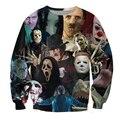 Новое Прибытие кофты Мужчины 3D Shark Ночь Зуб Ганнибал Видел Отпечатано Пуловер Толстовка Brand Clothing Moletom