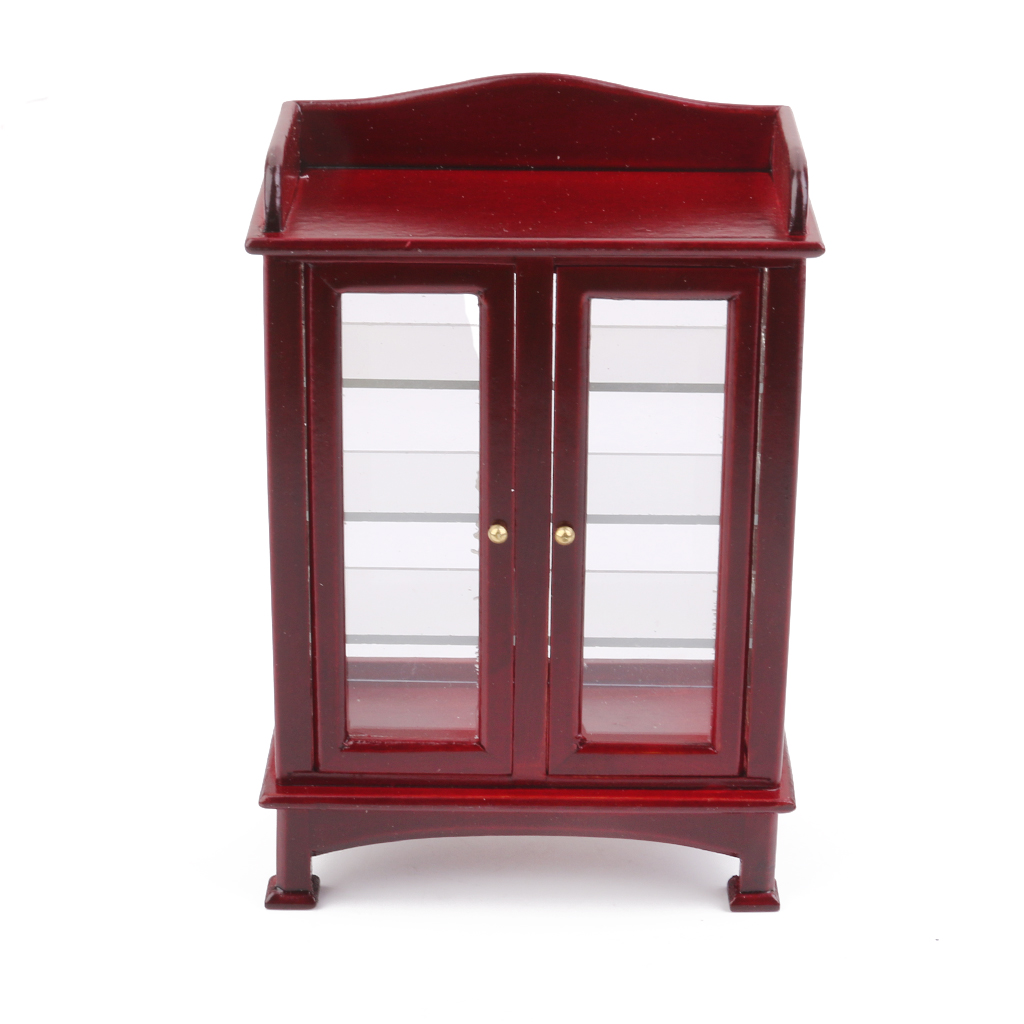 High Quality 1:12 Dollhouse Mini Wooden Kitchen Cabinet ...