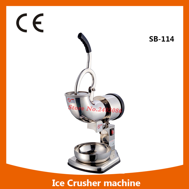 Full Stainless Steel electric double blade  Ice crusher Waterproof switch snow cone machine shaved ice for commercial use