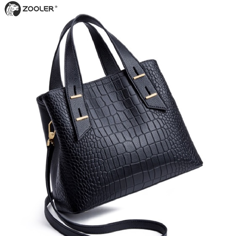2019 NEW leather handbag stylish designed genuine leather bag women ZOOLER high quality top handle tote