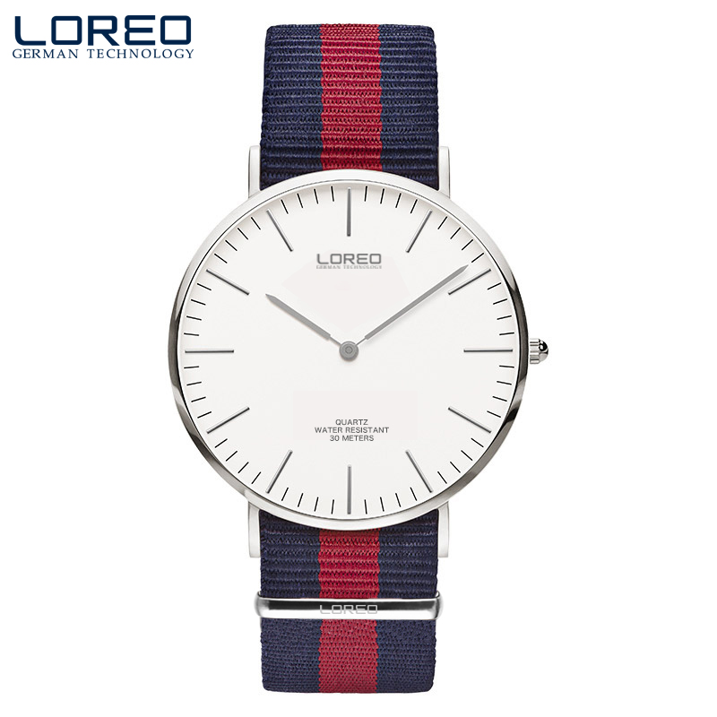 LOREO best gift automatic self-wind Korean version of the quartz thin section waterproof simple fashion canvas lovers watch ultra thin watch male student korean version of the simple fashion trend fashion watch waterproof leather watch men s watch quar