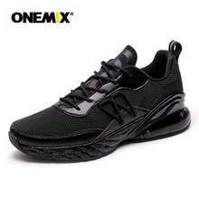 купить ONEMIX Outdoor Running Shoe Women Walking Comfortable Sport Sneaker Summer Male Athletic Breathable Footwear Jogging Black Shoes дешево