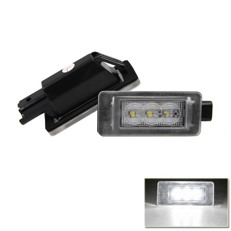 Reemplazar OEM #9682403680 Auto coche Led de luz de placa de licencia para Peugeot 207 CC 308 MK2 2008 de 208 citroen C5 II RD