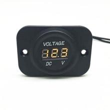 Hot Dropshipping Car Voltage Meter 12V-24V Waterproof Car Boat Marine Motorcycle LED Voltmeter Voltage Meter Gauge 4 Colors