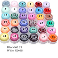 (NO.01-NO.36) Hot SALE Popular Pure Colors Gel Nail Polish Art UV  DIY Decoration for Manicure White Black Fast delivery