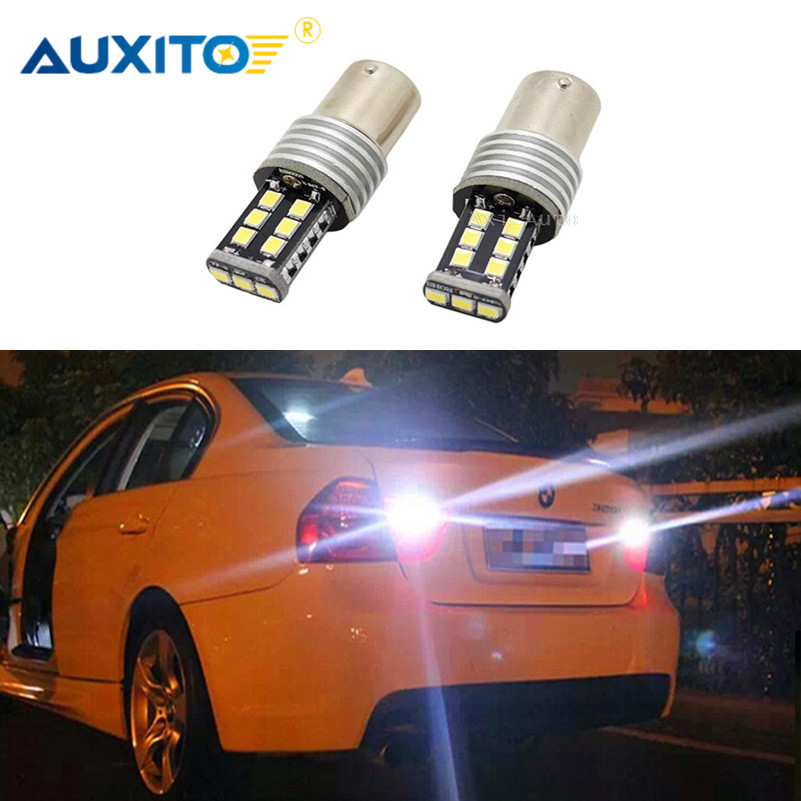 2x For Volkswagen VW Golf Passat Jetta Golf Cabrio EuroVan Touareg Beetle P21W 1156 BA15S Canbus LED backup lamp reverse light pair canbus 1156 ba15s p21w t20 7440 p13w t15 w21w 80w w philips chips backup reverse light front drl daytime running lamp