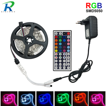 5050 LED Strip light RGB 30LEDsm Diode LED Tape RGB 10M SMD5050 LED Ribbon for home decoration with remote + adapter 53000459