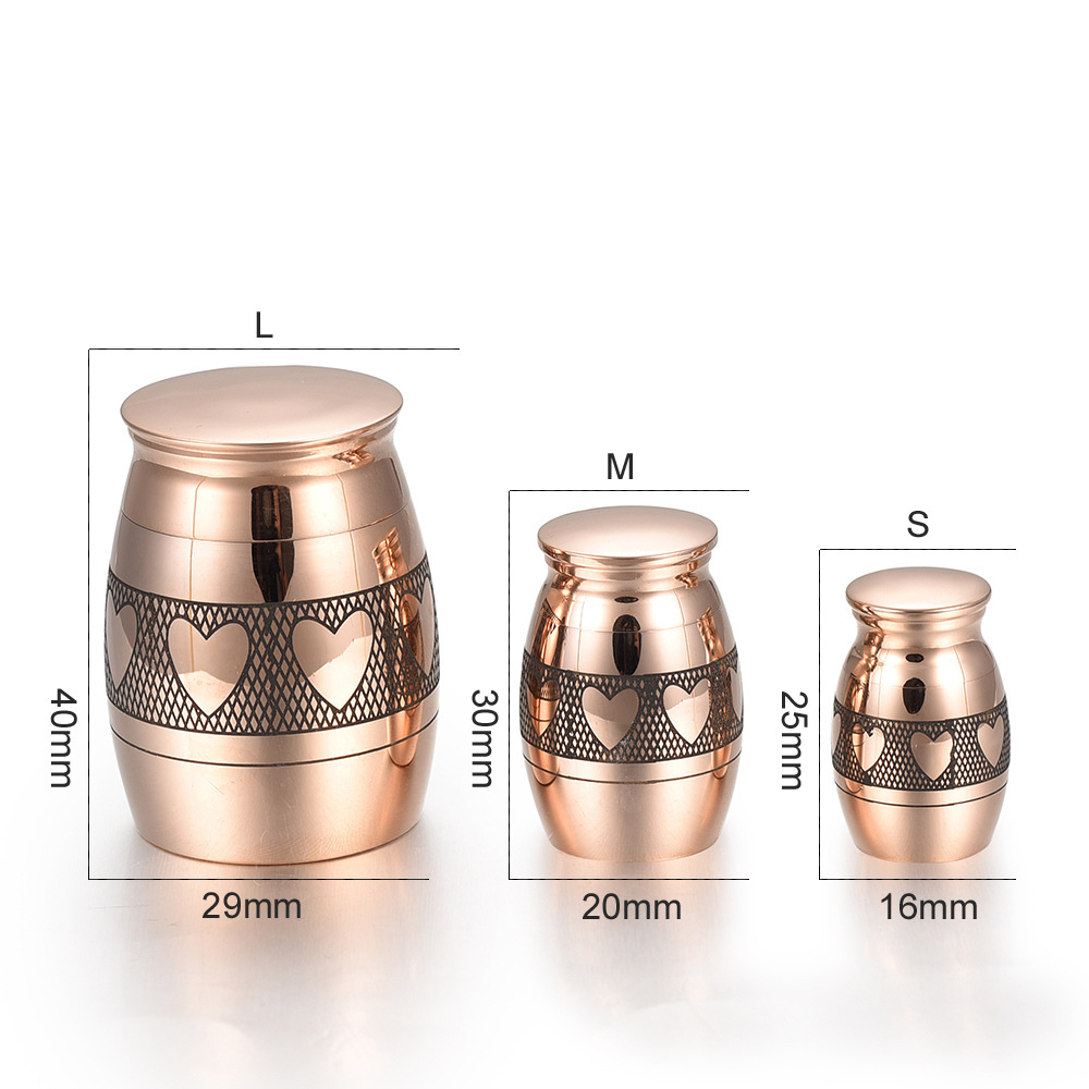 Rose Gold Cremation Urn Collection by Memorial Jewelry