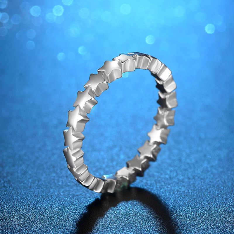 925 Серебряное кольцо в форме межзвездного неба, тайские свадебные кольца для женщин, креативное кольцо с потертым хвостом, обручальные вечерние кольца, подарки