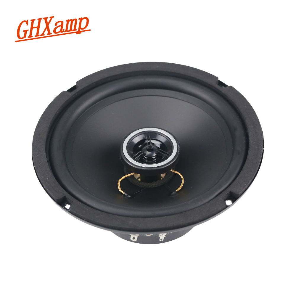 GHXAMP 6.5 inch Full Range Speaker Coaxial Horn Car Speaker Unit 8ohm 30W Neodymium Car Audio Loudspeaker 2pcs h 019 fountek fr88ex full range 3 inch hifi speaker amplifier speaker hot sale 84 3db 1w 1m