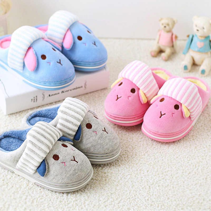 2a8e716bf ... BeckyWalk Autumn Children Slippers Home Slippers Kids Winter Shoes  Cartoon Boys Girls Baby Warm Indoor Floor