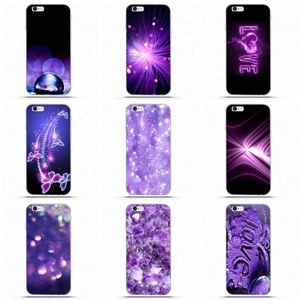 Wdlsre Love Purple Glitter Wallpaper For Apple Iphone 4 4s 5