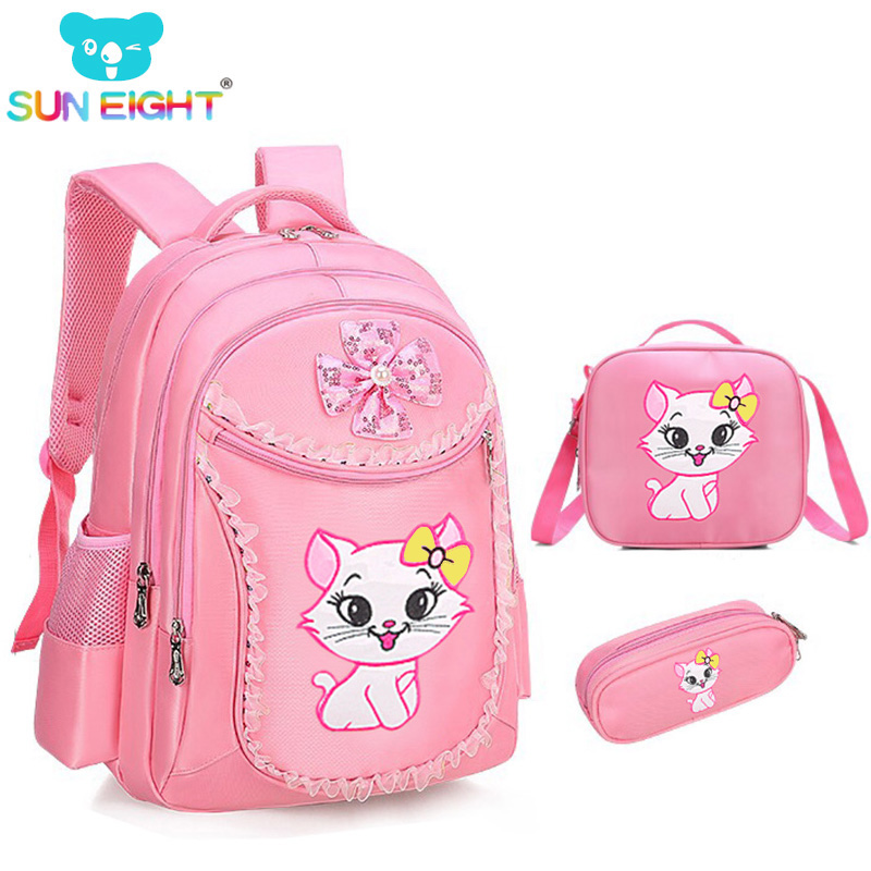 SUN EIGHT Sweet Cat Girl s font b School b font font b Bags b font