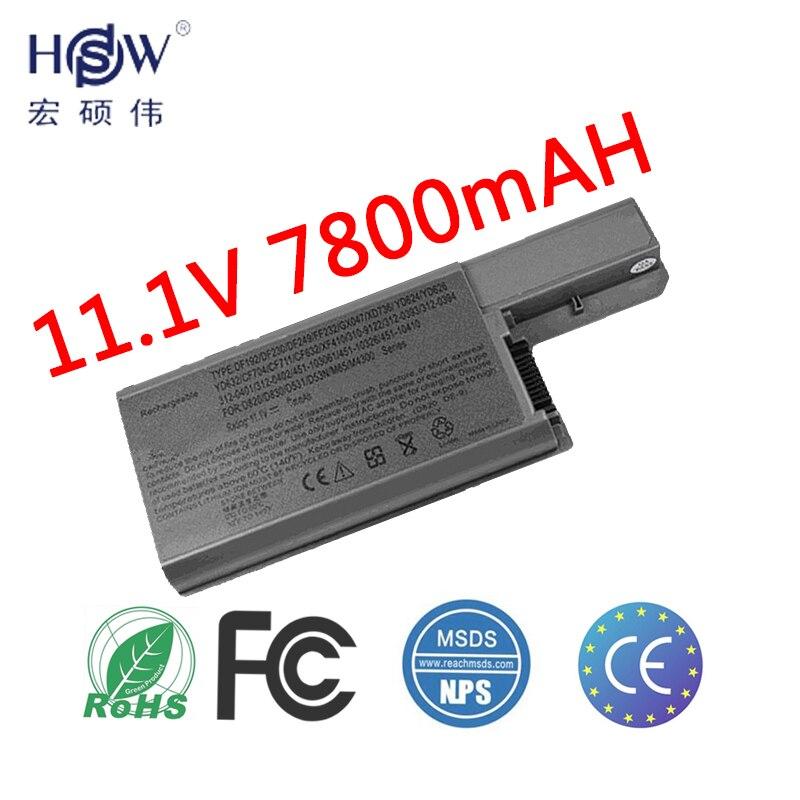 100% Kwaliteit Hsw Laptop Batterij Voor Dell Latitude D820 D531 D531n D830 Precisie M4300 M65 310-9122 Batterij Voor Laptop 312 -0393 312-0401