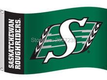 Saskatchewan Roughriders Flag 3x5FT CFL banner 100D 150X90CM Polyester brass grommets custom66,free shipping