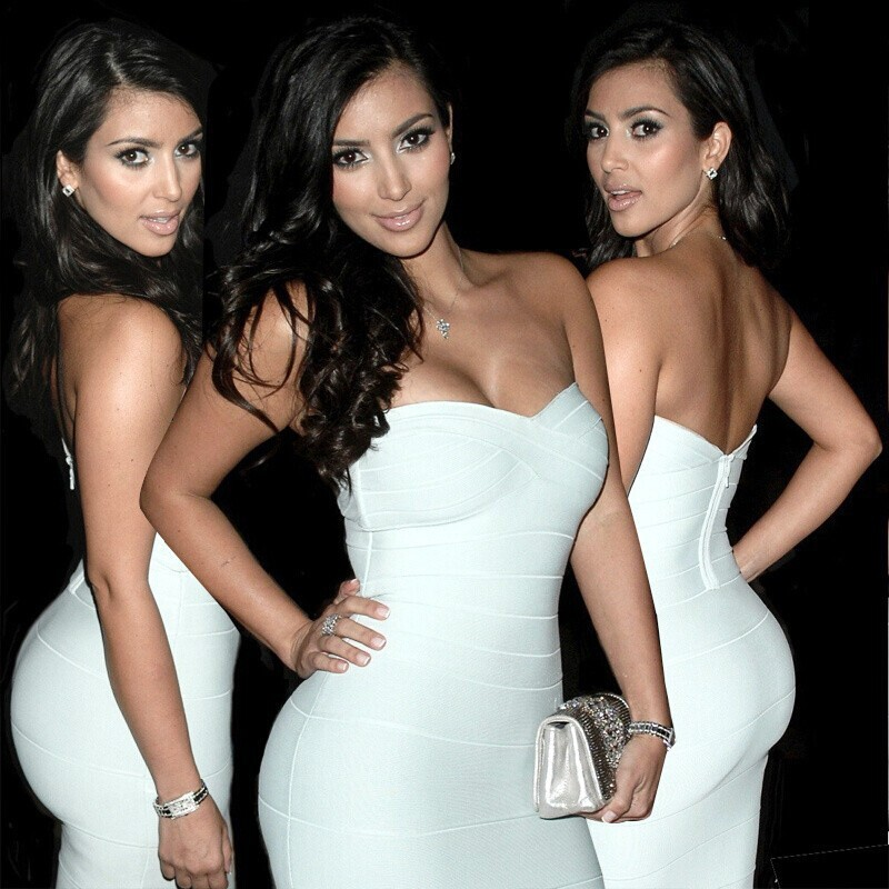 2017 women elastic knitted sexy bodycon bandage dress Casual Dresses vestidos white/rainbow party dress wholesale
