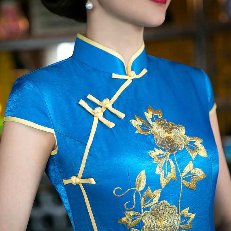 Красное женское китайское традиционное платье, красное свадебное платье для невесты, одежда в китайском национальном стиле, длинное женское платье Ципао, вечерние платья 18