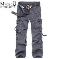 Mwxsd brand men's cotton multi-pocket tactical pants men Casual Military Army cargo pants Male jogger studert Pants