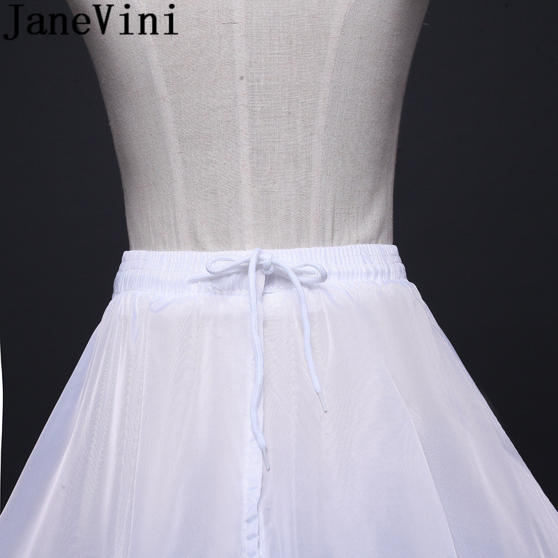 Купить с кэшбэком JaneVini 2019 High Quality Ball Gown Petticoats 6 Hoops Long Petticoat Fluffy Prom Wedding Dresses Skirt Crinoline Underskirts
