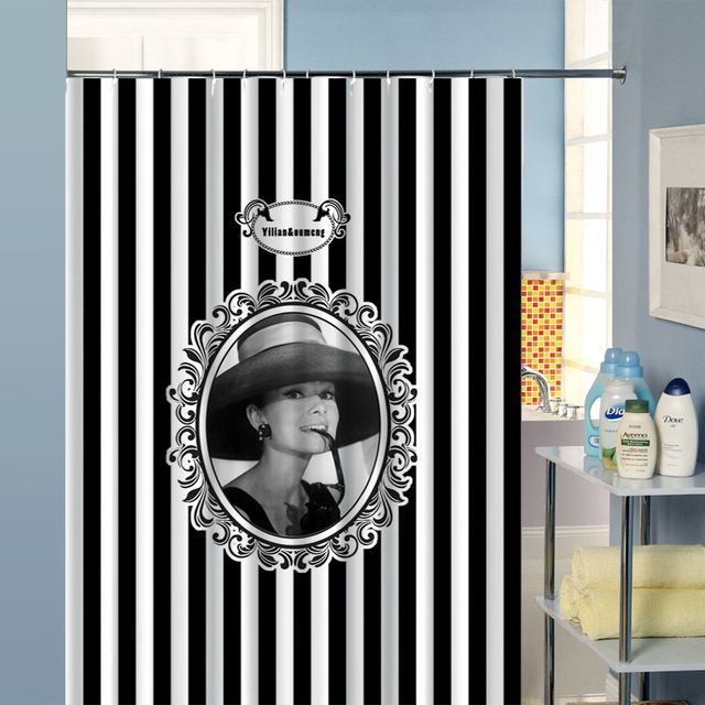 Aliexpress.com : Buy Shower Curtain Bathroom Curtain Audrey ...