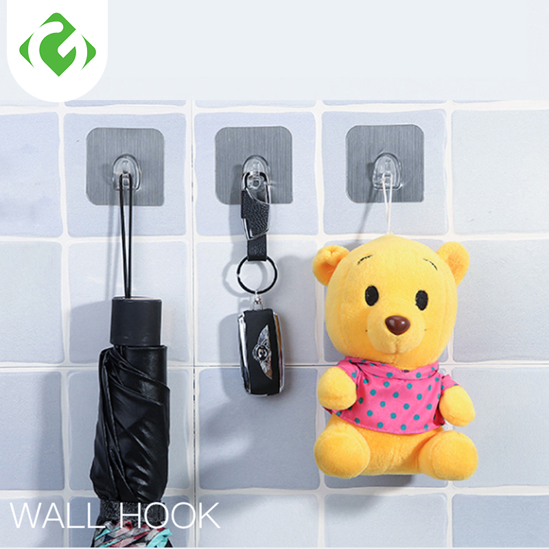 3PCS Waterproof Hook Wall Mounted Type Hook Use Bathroom And KitchenMulti-Purpose Hooks Bearing 5KG Hook Up Secure Storage Tool