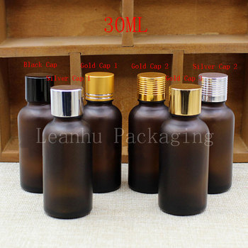 30ML Brown Frosted Glass Bottle With Screw Cap, 30CC Essential Oil/Toner Packaging Bottle, Empty Cosmetic Container (30 PC/Lot)