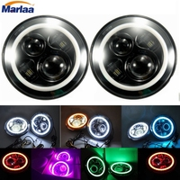 7Inch Round Led Headlight For 97 15 Jeep Wrangler With Halo Angel Eye DRL Turn Signal