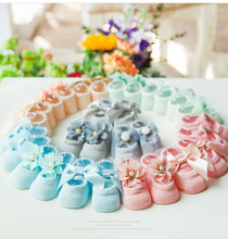 MEIL 3Pairs /A set ofSpring, summer, the new children's socks wholesale baby shoe lace flower bow floor socks