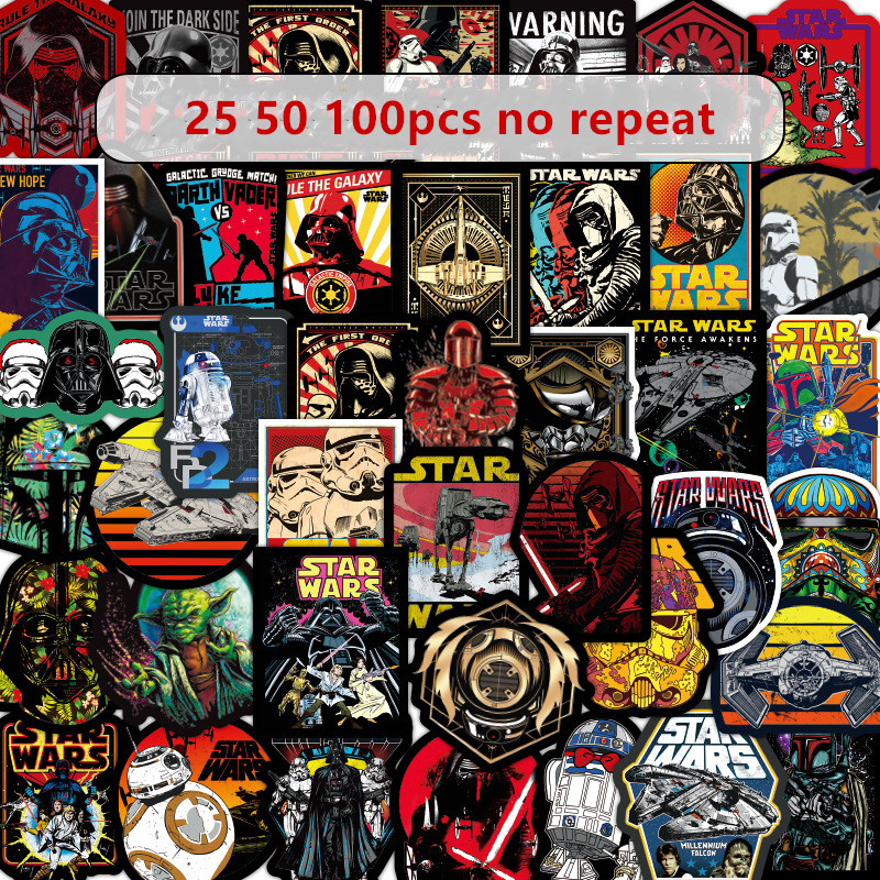 50-100pcs Star Wars Graffiti Stickers Toy Superhero Skateboard Motorcycle Draw Box Stickers Cartoon Stickers