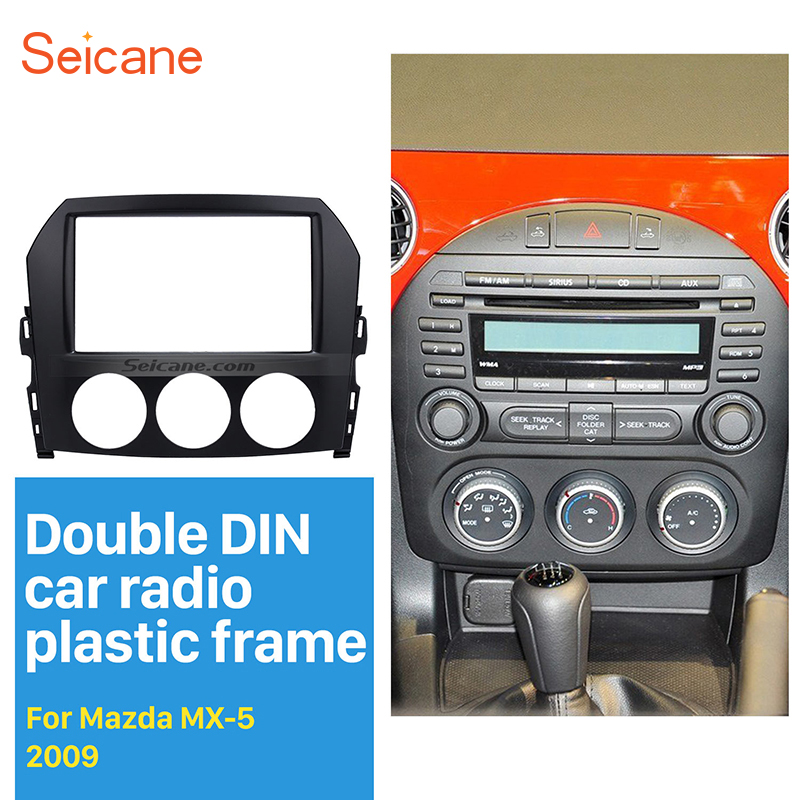 Seicane 2 Din Frame Car Radio Fascia Cover Trim For 2005 2006 2007 Rhaliexpress: Mazda 2 2008 On Car Stereo Radio Double Din At Gmaili.net