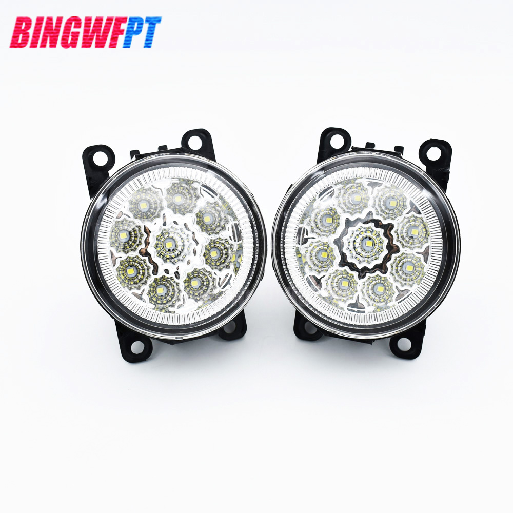 2PCS Angel Eyes 1set CCC For OPEL ASTRA H GTC 2005-2015 6710027 Car styling front bumper LED fog Lights Halogen fog lamps