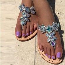 Summer Ladies Glitter MultiColors Shine Rhinestone Flip Flops Sandals Flats  Thong toe Girl s Beach Bling Gem Crystal Side Shoes 861ebc631703