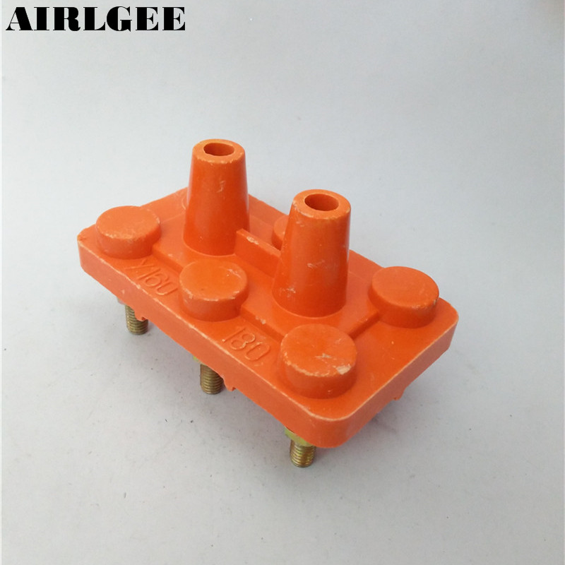 Трехфазный клеммный блок двигателя, монтажная плата оранжевого цвета, 11kw-15 кВт, бесплатная доставка