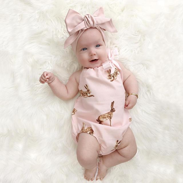2016 Novos Conjuntos de Roupas de bebê Menina Crianças Sem Mangas Bebê Verão Escalada Roupas + Headband Da Flor Duas peças Recém-nascido Crianças conjunto