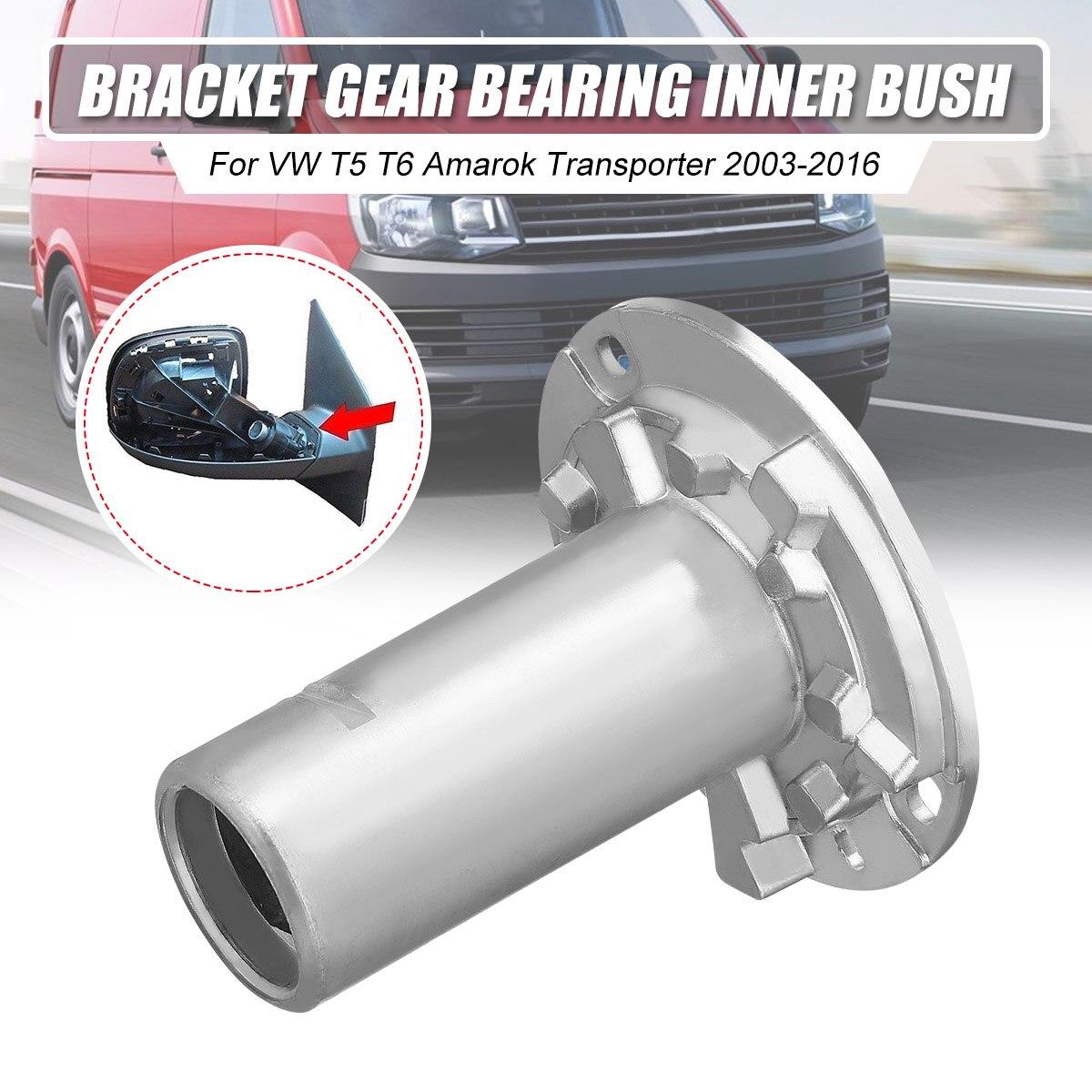 Metallo L/R Ala Car Specchio Retrovisore Staffa Gear Interno del Cuscinetto Bush Fit per VW T5 T6 Amarok Transporter 2003-2016