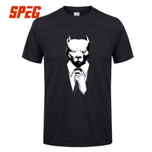 Men's Summer T Shirts Short Sleeve Mr. Pitbull Pit Bull Funny Tees Homme Slim Fit Short Sleeved Clothing Men Cool Tee Shirts