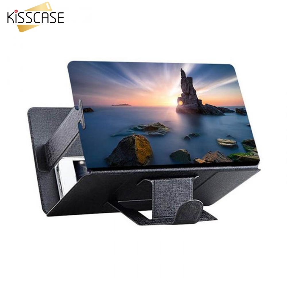 KISSCASE Zoom Enlarged Screen Phone Holder Screen Magnif 3D Movie Amplifier Video Amplifier Eye Treasure For Phone Holder Stand