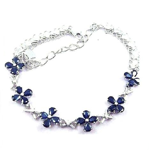 Новинка 2017 года QI xuan_free почта темно синий каменный цветок Bracelets_S925 чистого серебра Bracelets_Manufacturer непосредственно продаж
