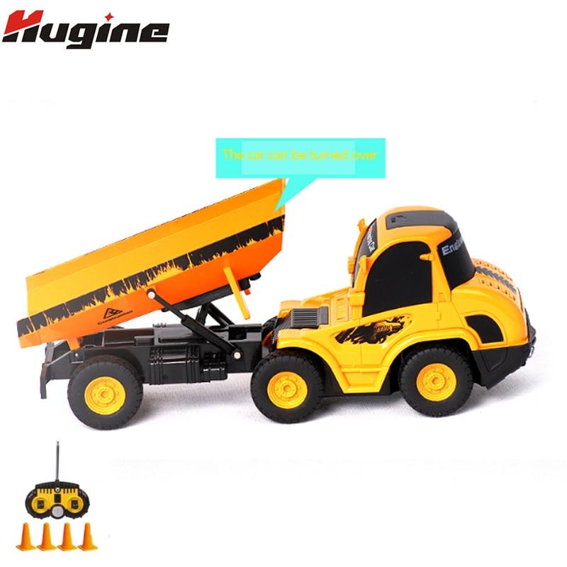 Télécommande camion à benne basculante nouveaux jouets améliorés 5CH 4WD Construction ingénieur véhicules 1:20 pour enfants loisirs jouets cadeaux de noël