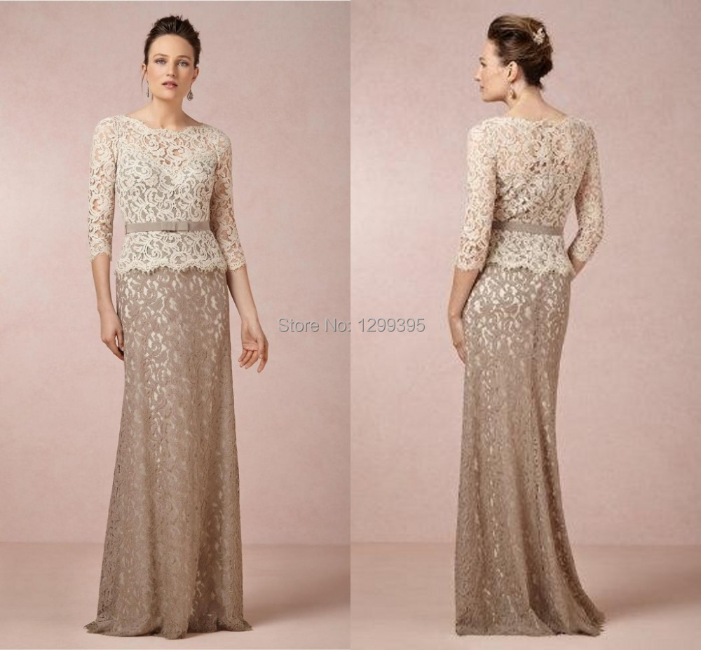 A Line Mother of the Bride Dresses Sheath Floor Length Plus ...