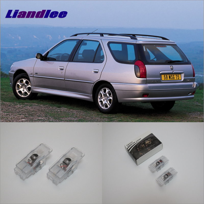 Liandlee Car Courtesy Doors Lights For Peugeot 306 1997~1999 For Peugeot 607 1999~2010 Projector Welcome Light Ghost Shadow Lamp
