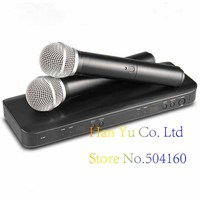 Professional BLX288 UHF Wireless Microphone Karaoke System Dual Handheld Transmitter Mic for Stage DJ KTV